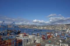 Porto di Valparaiso Fotografia Stock