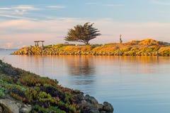Porto di Ventura dell'entrata della statua della sirena Immagini Stock