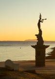 Porto di Ventura dell'entrata della statua della sirena Immagine Stock Libera da Diritti
