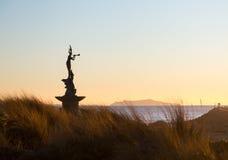 Porto di Ventura dell'entrata della statua della sirena Fotografia Stock Libera da Diritti