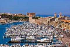 Porto di Vieux - Marsiglia Francia fotografia stock