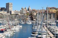 Porto di Vieux a Marsiglia, Francia Fotografie Stock Libere da Diritti