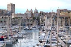 Porto di Vieux a Marsiglia, Francia Immagini Stock Libere da Diritti