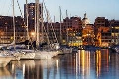 Porto di Vieux - vecchio porto a Marsiglia Fotografie Stock Libere da Diritti