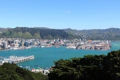 Porto di Wellington dall'allerta di Victoria del supporto Fotografia Stock Libera da Diritti