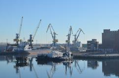 Porto di Wismar, Mar Baltico, Germania Fotografie Stock