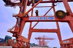 Porto di Xiamen, Fujian, Cina Immagine Stock
