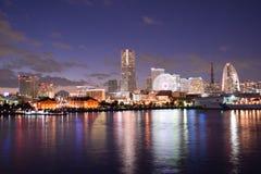 Porto di Yokohama con il Mt Fuji Fotografia Stock