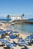 Porto a Dinamarca Barra Beach Salvador Bahia Brazil Imagem de Stock