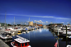 Porto do barco Foto de Stock Royalty Free