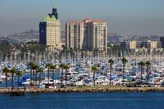 Porto do barco de Long Beach Fotografia de Stock Royalty Free