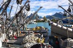 Porto do bote de Valdez Embarcações de pesca com engrenagem Foto de Stock