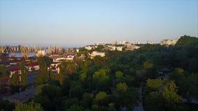 Porto do comércio do fuzileiro naval de Odessa video estoque