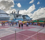 Porto do cruzeiro de Philipsburg Foto de Stock Royalty Free