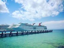 Porto do cruzeiro em Cozumel México fotografia de stock royalty free