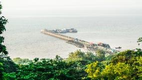Porto do ferryboat foto de stock