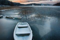 Porto do inverno Fotos de Stock