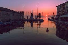 Porto do lazise - Italia foto de stock