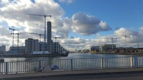 Porto do liffey de Dublin e de rio Fotografia de Stock