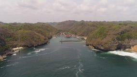 Porto do mar da entrada filme