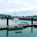 Porto do molhe, Langkawi Malásia Imagem de Stock
