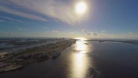 Porto do nascer do sol 4k de Miami filme