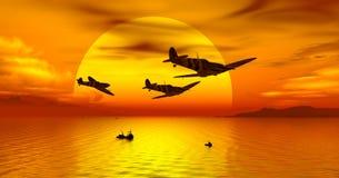 Porto do por do sol Imagens de Stock Royalty Free