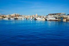 Porto do porto de Santa Pola na Espanha de Alicante Imagens de Stock