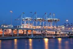 Porto do recipiente em Algeciras, Espanha imagem de stock royalty free