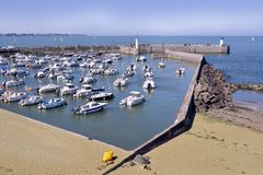 Porto do Saint-Michel-Cozinheiro chefe-cozinheiro chefe em França Imagem de Stock Royalty Free
