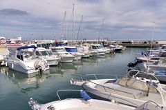 Porto do Saintes-Maries-de-la-Mer em França imagem de stock royalty free