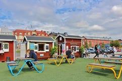 Porto do sul em Luleå Fotos de Stock Royalty Free
