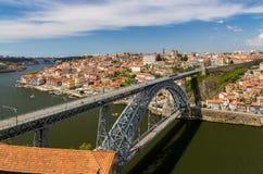 Porto with Dom Luis Bridge Stock Images