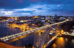Porto with Dom Luis Bridge - Portugal Stock Photography