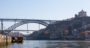 Porto and the Dom Luis I Bridge Royalty Free Stock Photography