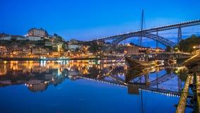 Porto with the Dom Luiz bridge, Portugal Royalty Free Stock Photo