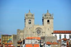 Porto domkyrka, Porto, Portugal Fotografering för Bildbyråer