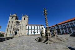 Porto domkyrka, Porto, Portugal Arkivbilder