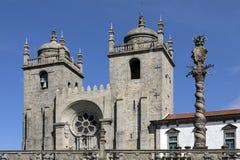 Porto domkyrka - Portugal Royaltyfri Foto