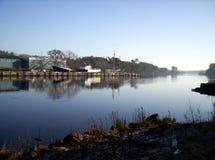 Porto dos barcos do cais Imagem de Stock Royalty Free