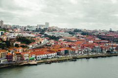 Porto downtown top view stock photography