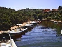 Porto e barche Immagine Stock Libera da Diritti
