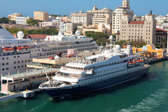Porto e cidade de San Juan, Puerto Rico Fotos de Stock Royalty Free