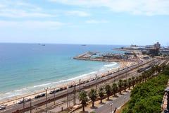 Porto e ferrovia Tarragona Immagine Stock