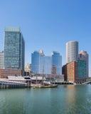 Porto e lungomare di Boston Immagini Stock Libere da Diritti