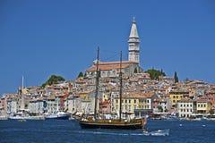 Porto e lungomare di Rovinj Fotografie Stock