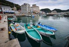 Porto e paesino di pescatori di Katsuura nel Giappone Fotografia Stock Libera da Diritti