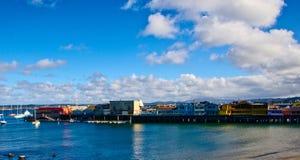 Porto e pilastro di Monterey Fotografie Stock Libere da Diritti