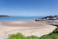 Porto e praia de Tenby Foto de Stock Royalty Free