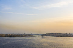 Porto e skyline grandes, Valletta, Malta Foto de Stock Royalty Free